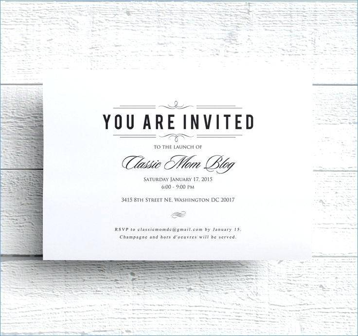 Sample Seminar Invitation Template