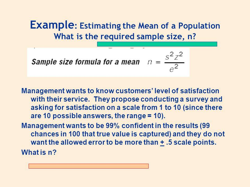 Sample Size Calculator For Customer Satisfaction Survey