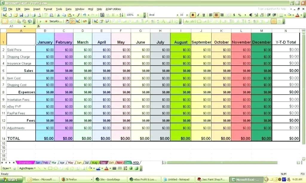 Sample Spreadsheet Excel