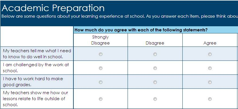 Sample Survey Questionnaire For K 12