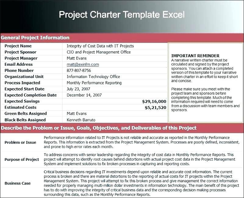 Sample Team Charter Template