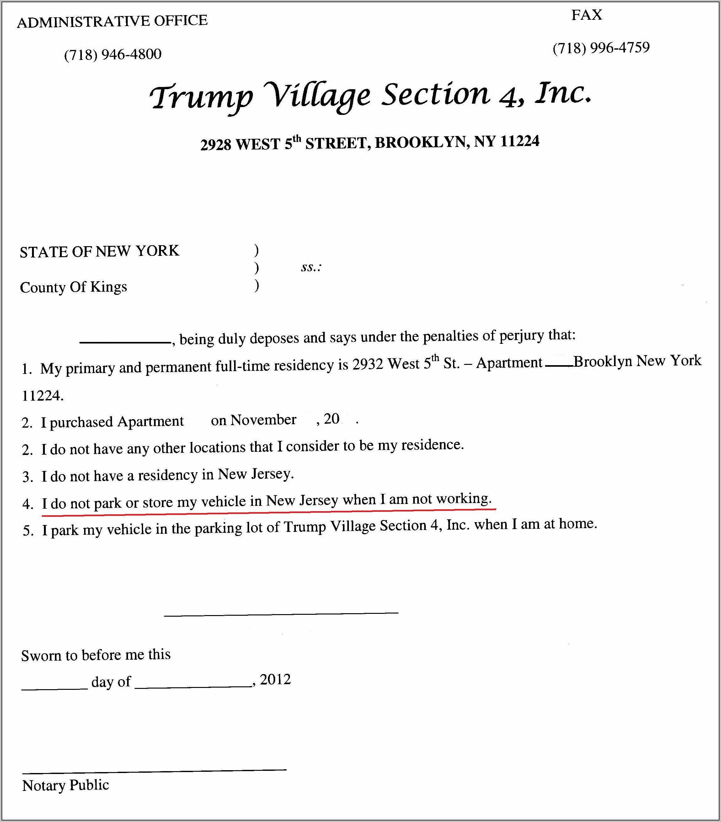 Sample Template For Eviction Notice