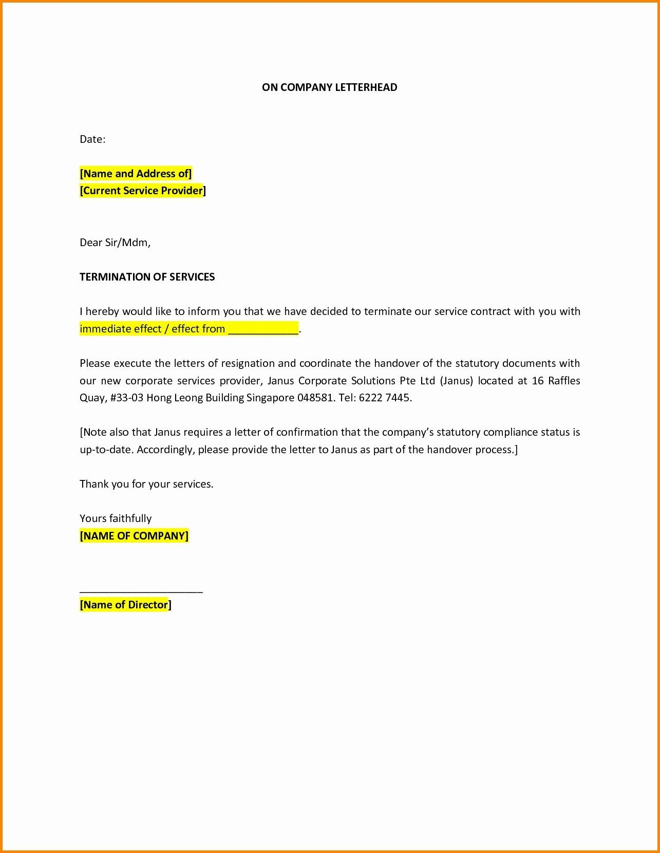 Sample Termination Of Employment Letter Pdf
