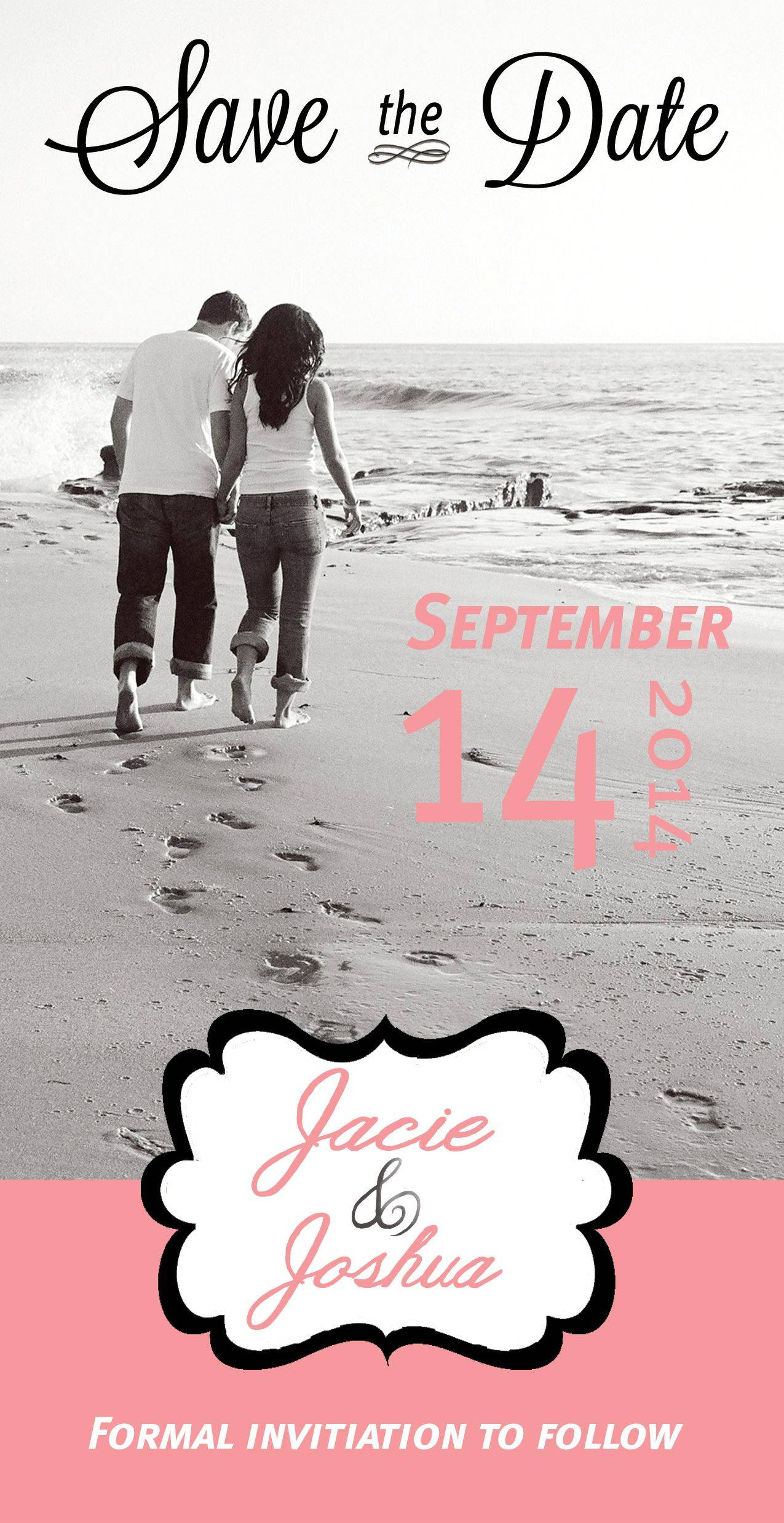 Save The Date Beach Wedding Template