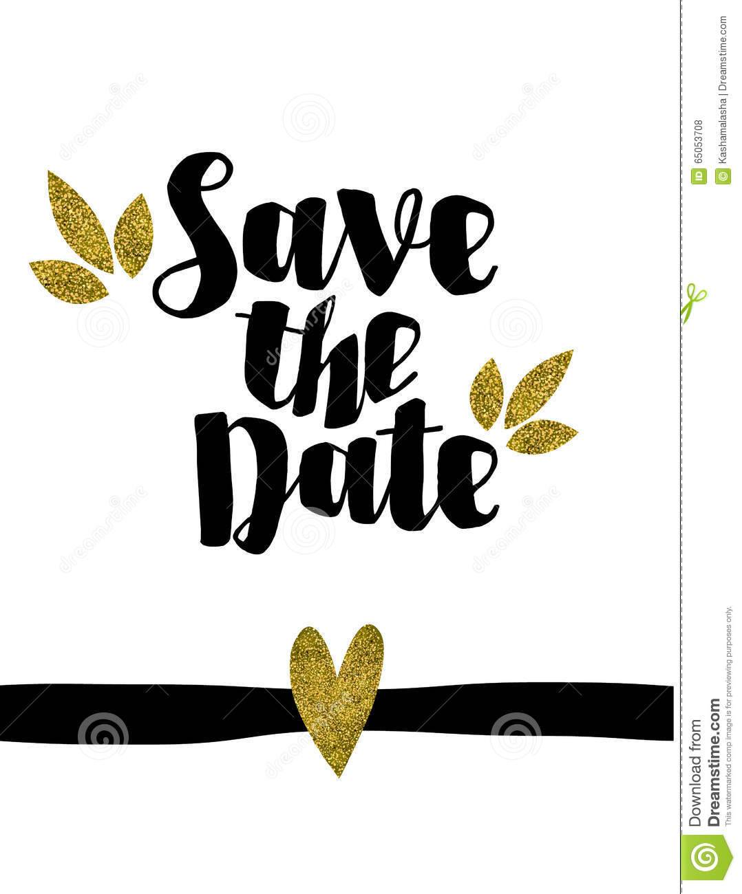 Save The Date Wedding Invitation Template Vectorillustration