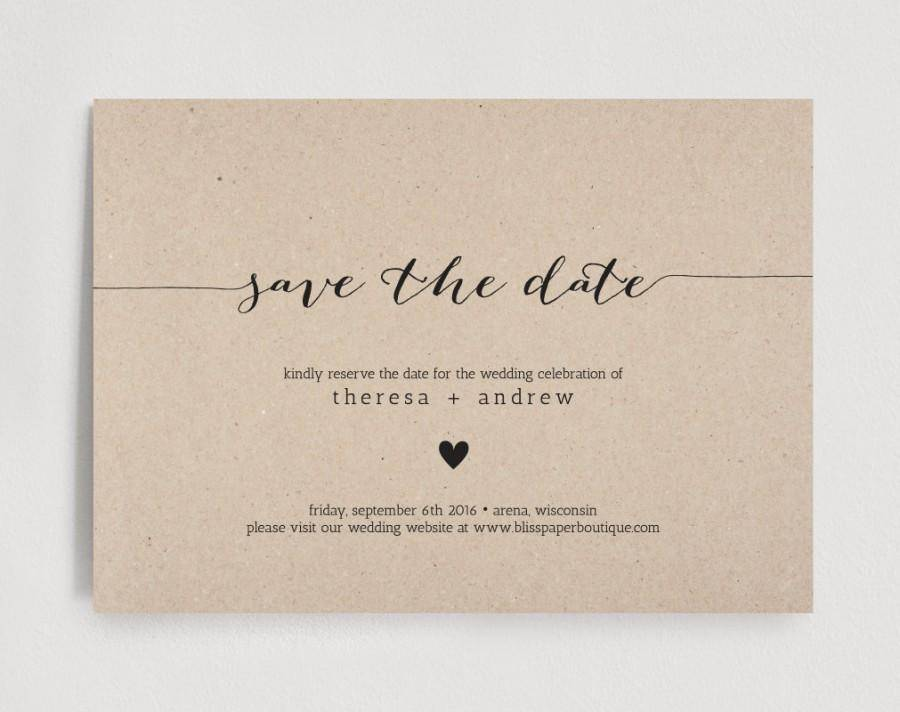 Save The Date Wedding Template Download