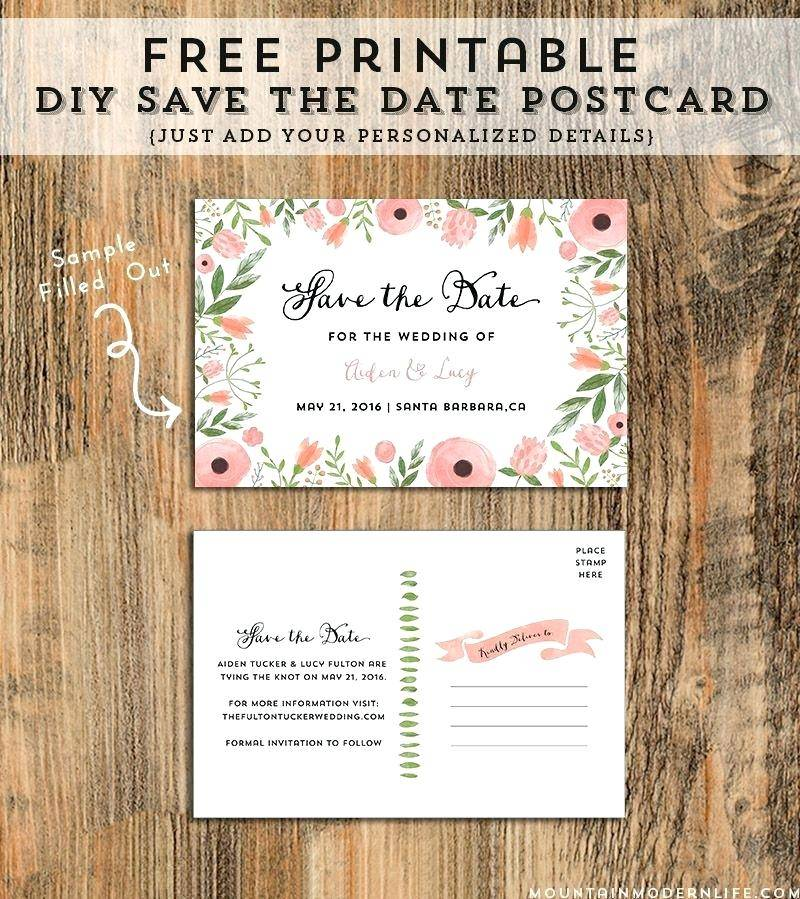 Save The Date Wedding Template Free Download