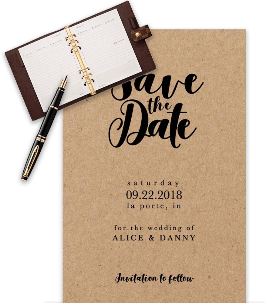 Save The Date Wedding Template Word