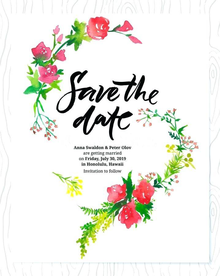 Save The Date Wedding Templates Free Download
