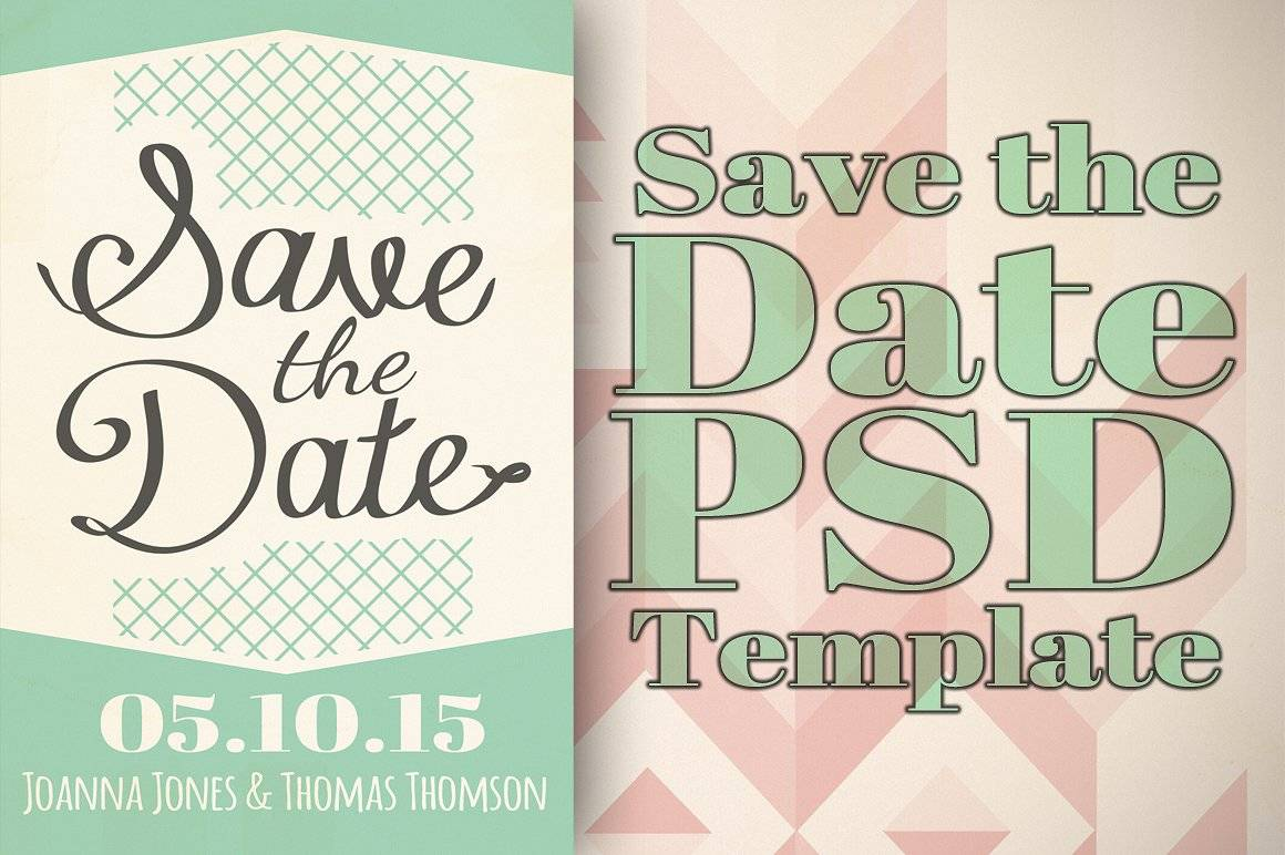 Save The Date Wedding Templates Photoshop