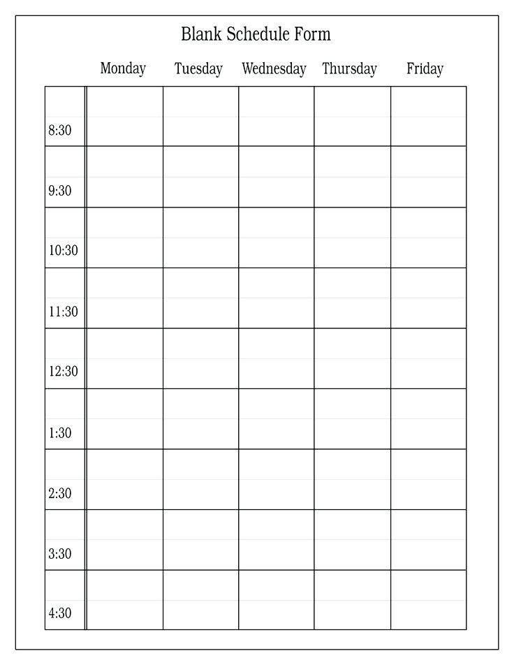 Schedule Grid Template