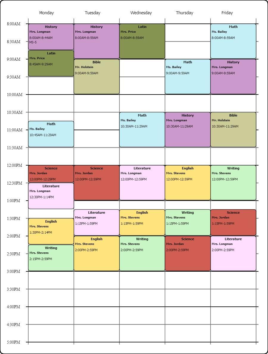 Schedule Maker Template Google Docs