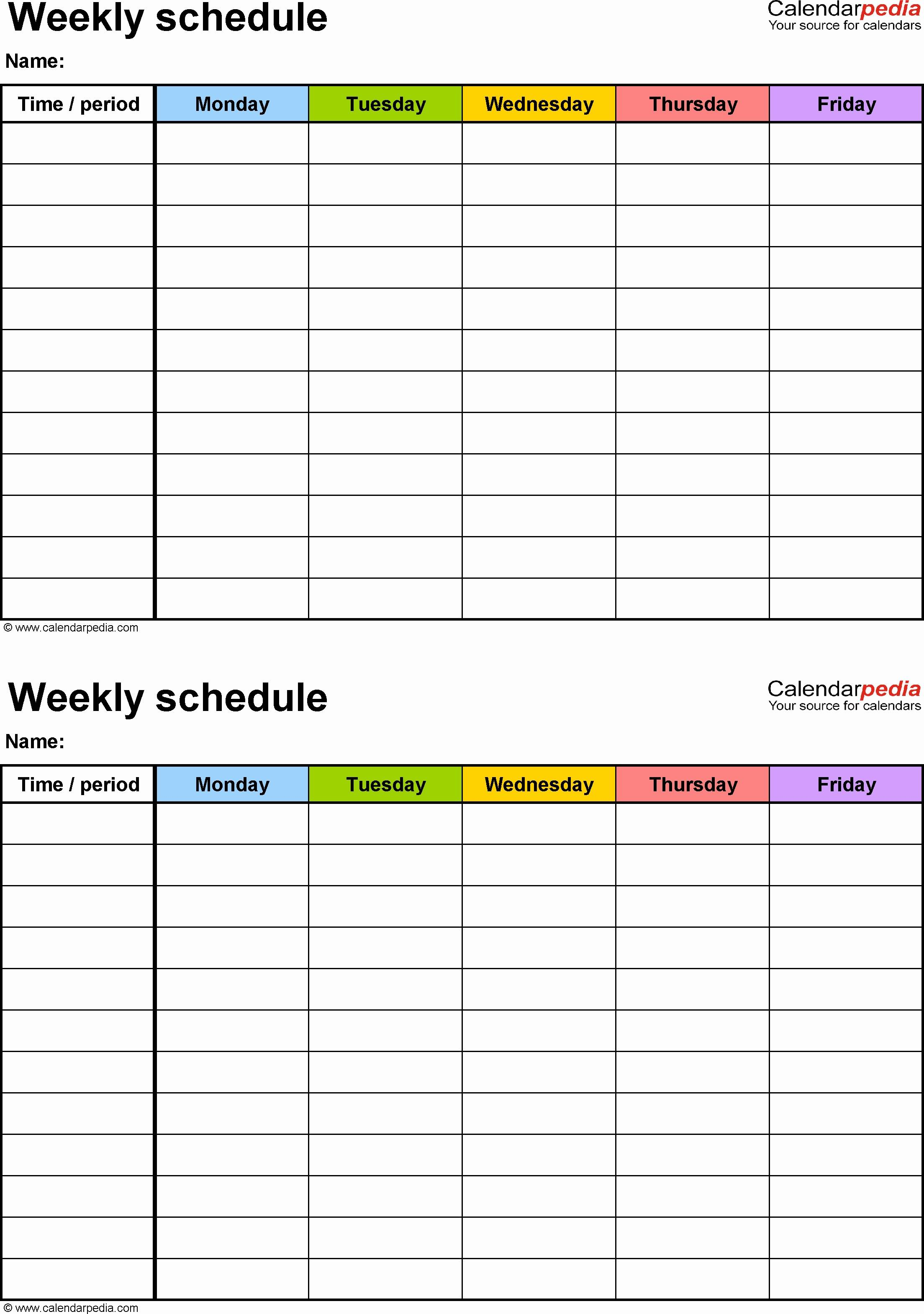 Schedule Maker Template Online