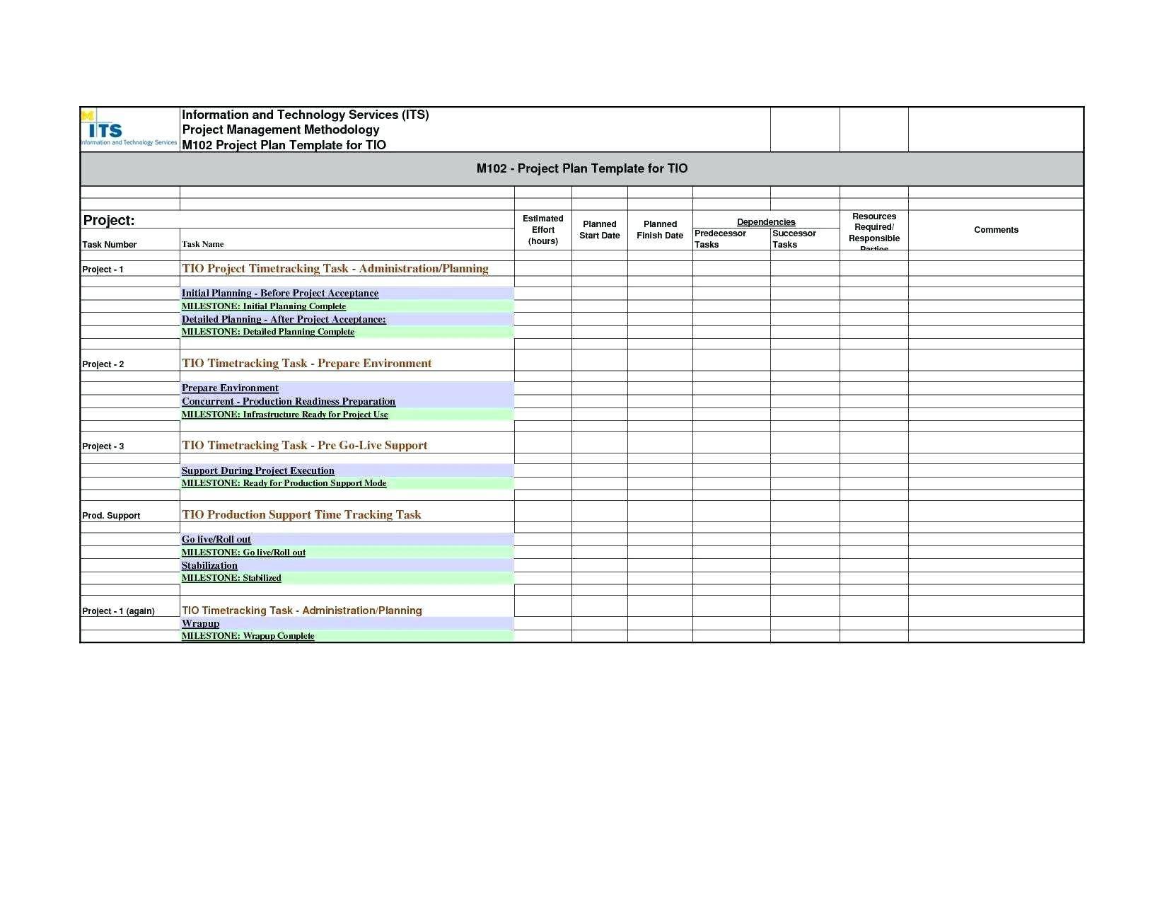 Schedule Timeline Template