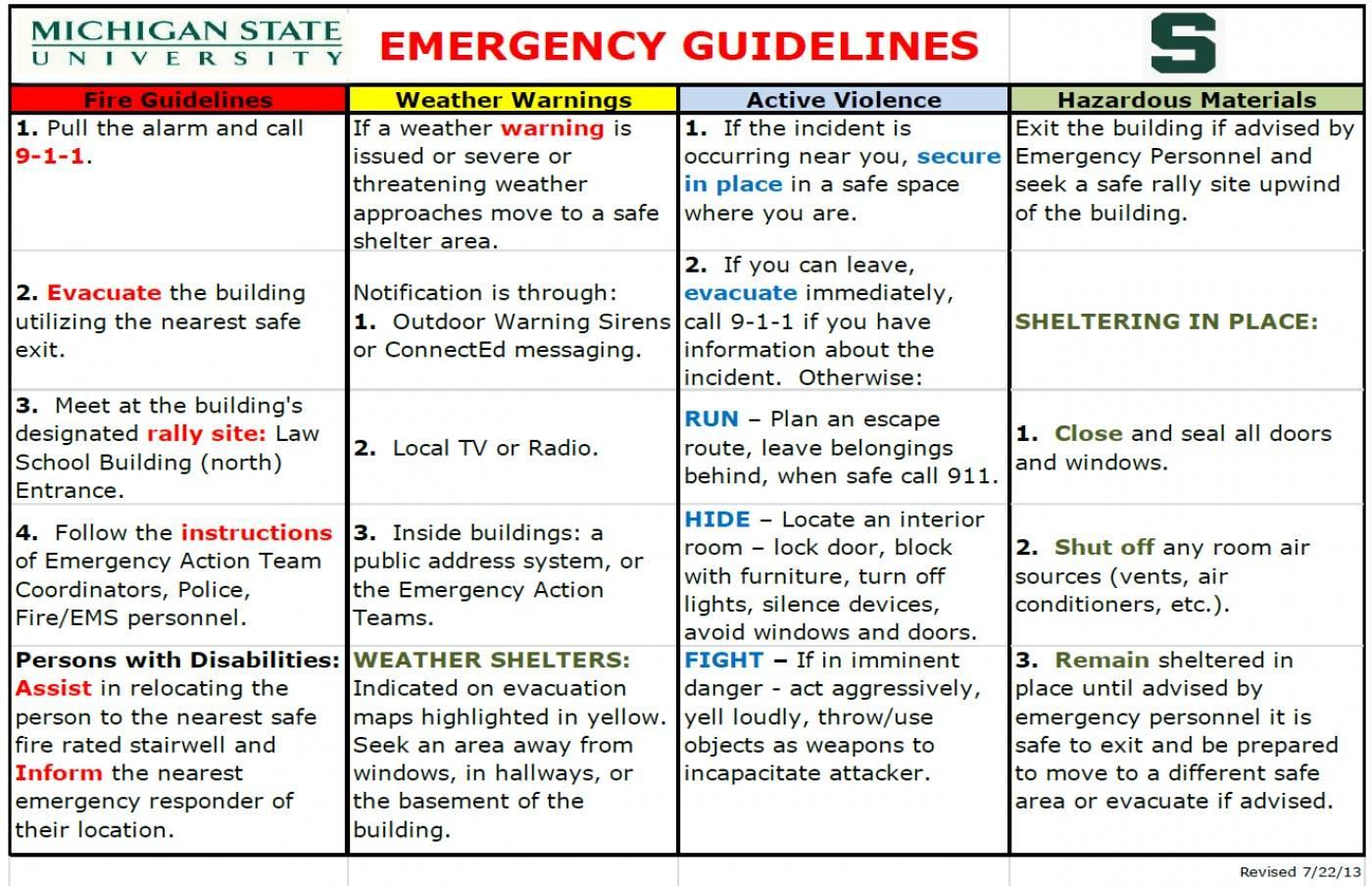 School Evacuation Plan Template