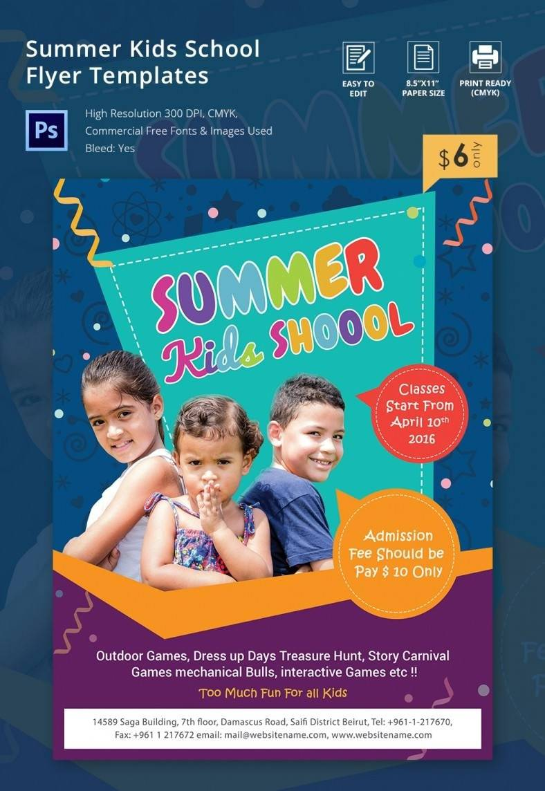 School Flyer Templates Free Download
