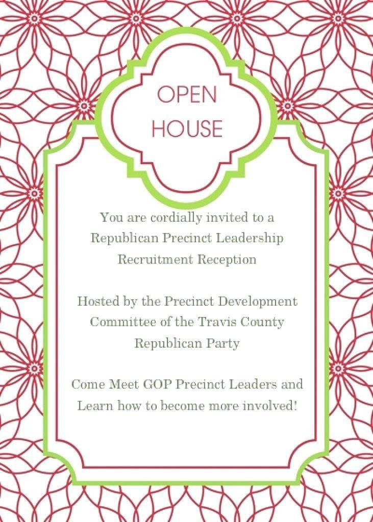 School Open House Invitations Templates Free