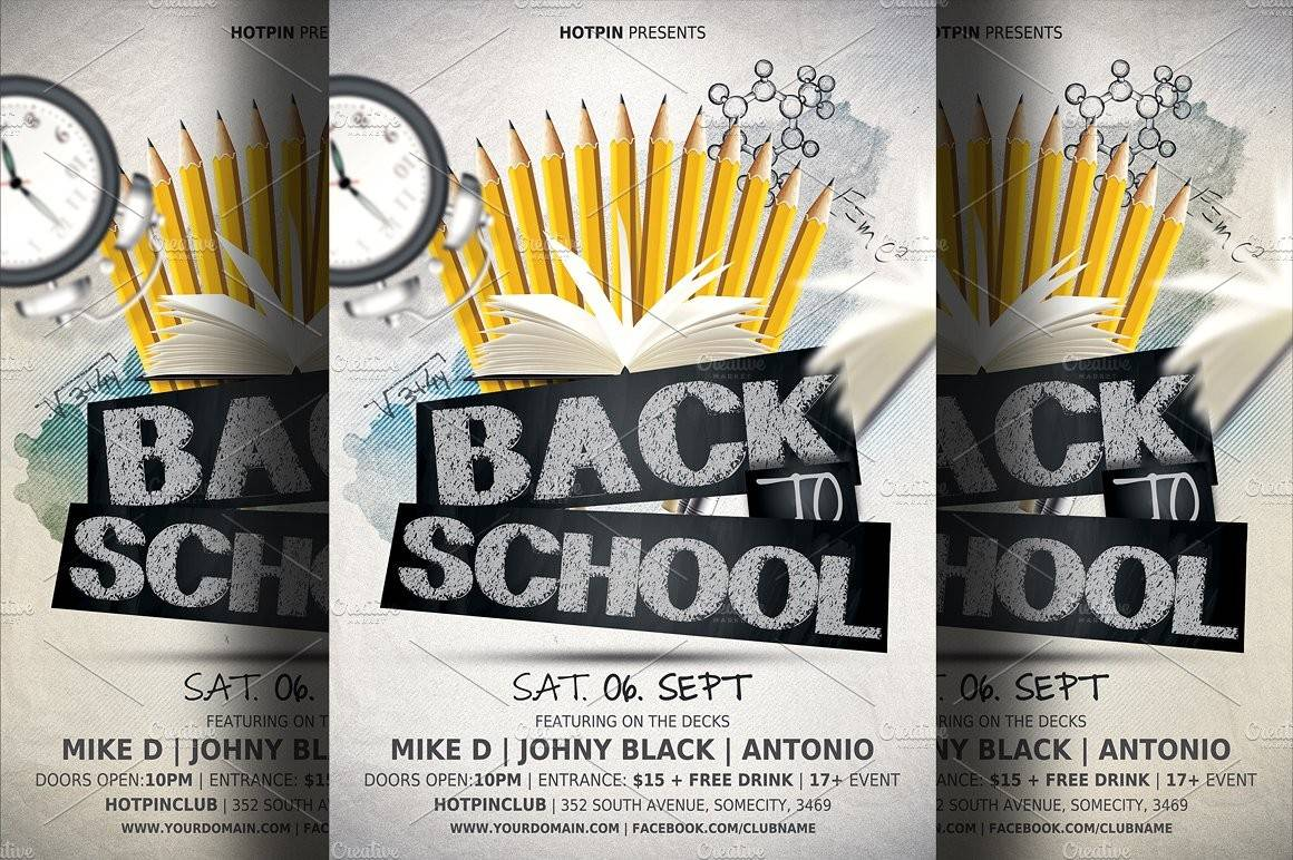 School Party Flyer Template Free