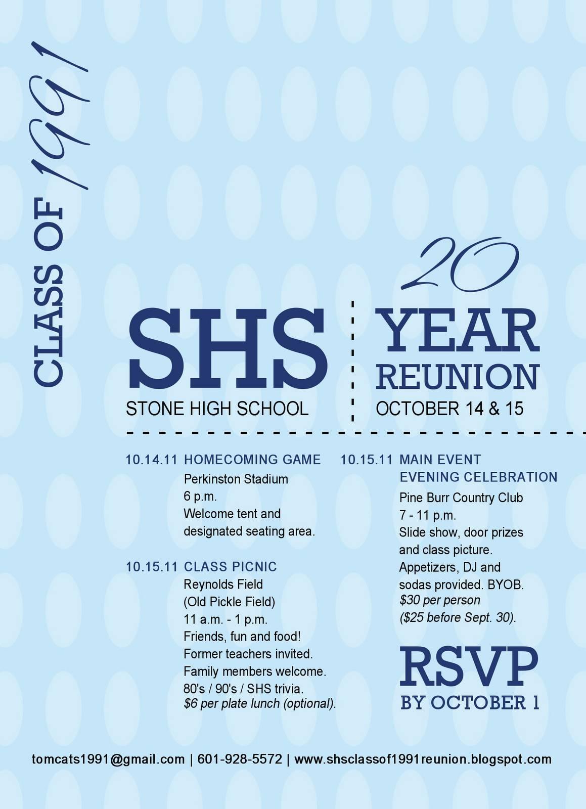School Reunion Invitations Templates