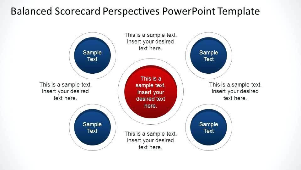 Scorecard Dashboard Powerpoint Template Free