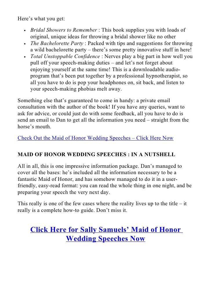 Scottish Father Of The Bride Speech Template