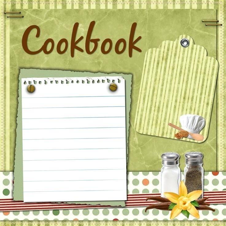 Scrapbook Recipe Book Templates