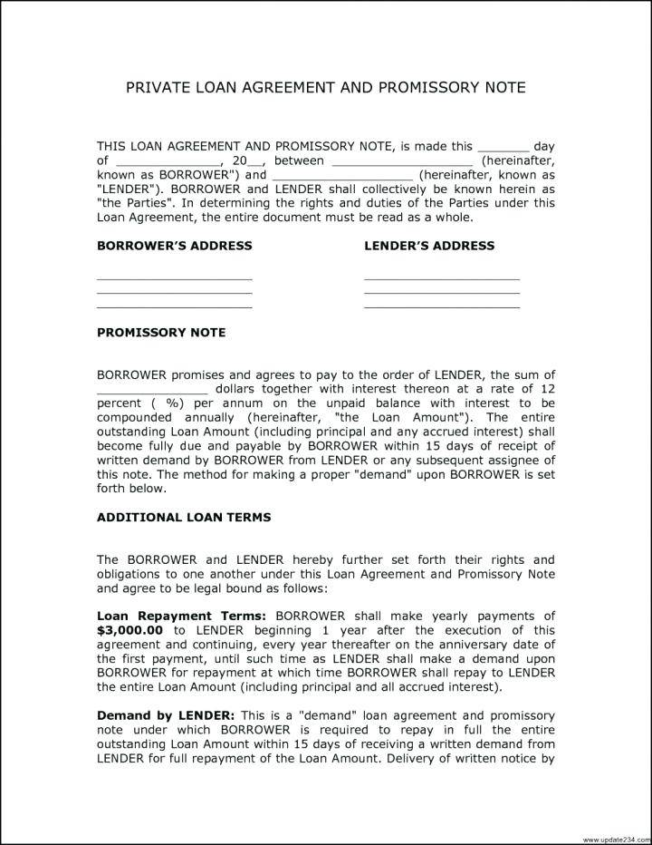 Second Mortgage Document Template