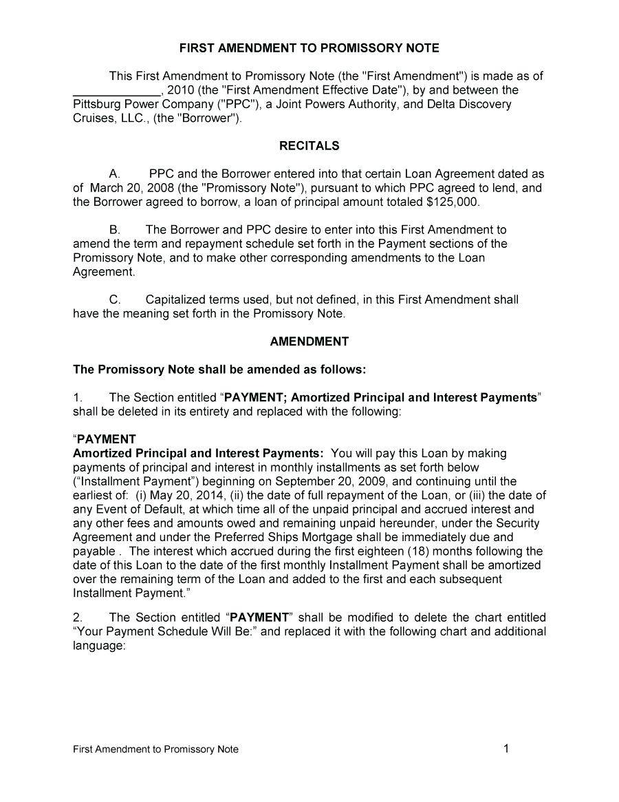 Secured Promissory Note California Template