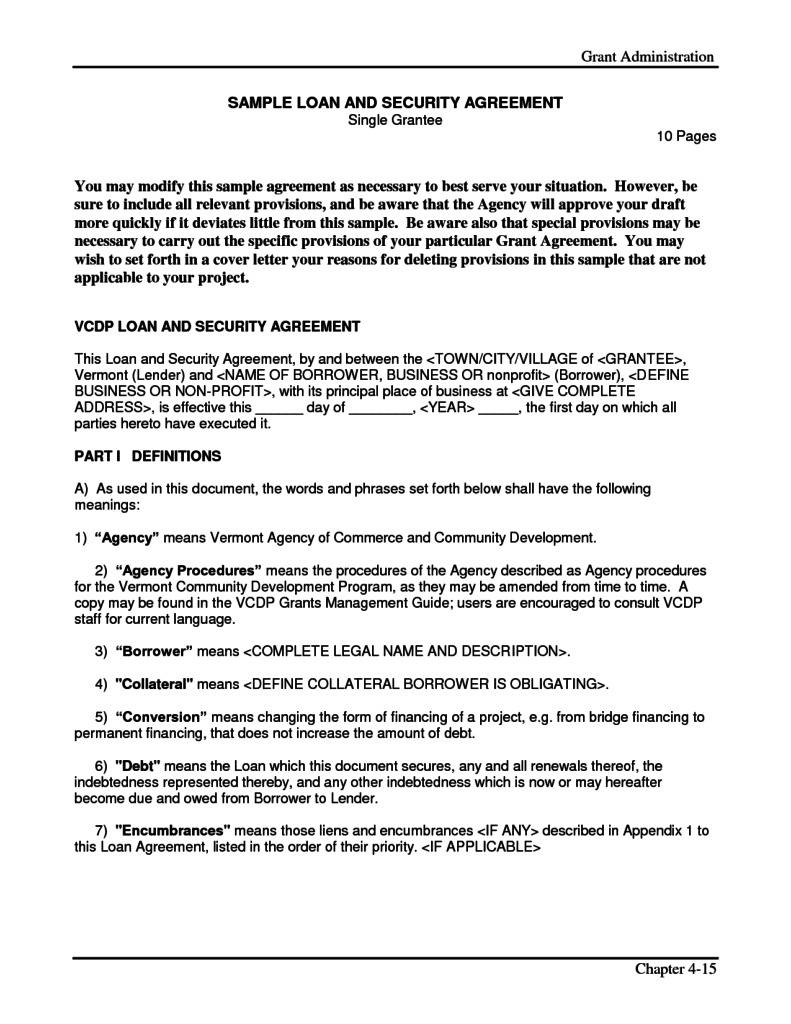 Security Guard Contract Agreement Template