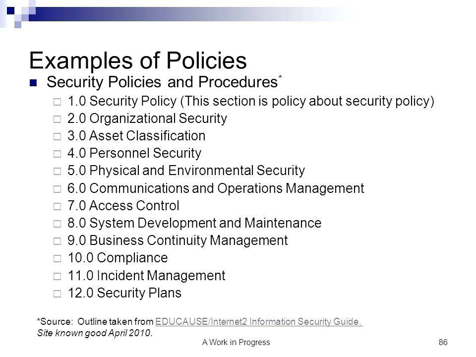 Security Log Review Policies And Procedures Template
