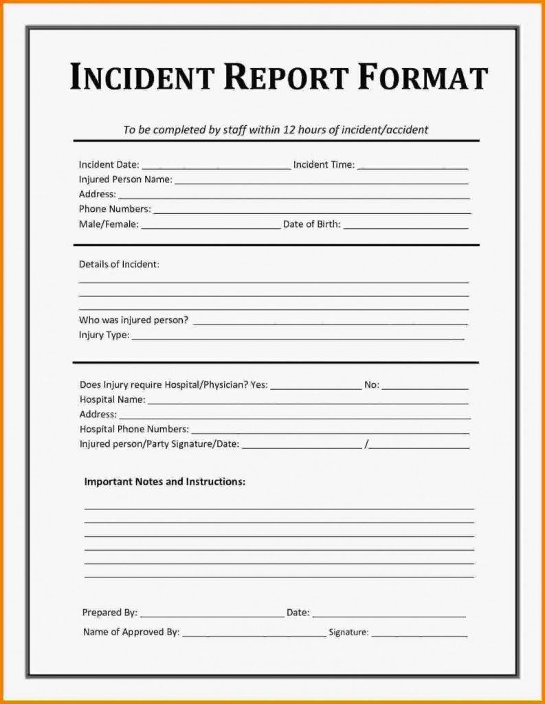 Security Officer Incident Report Template