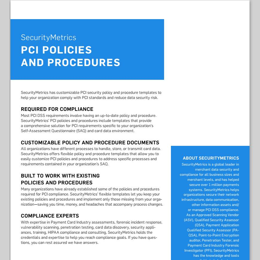 Security Policies And Procedures Template