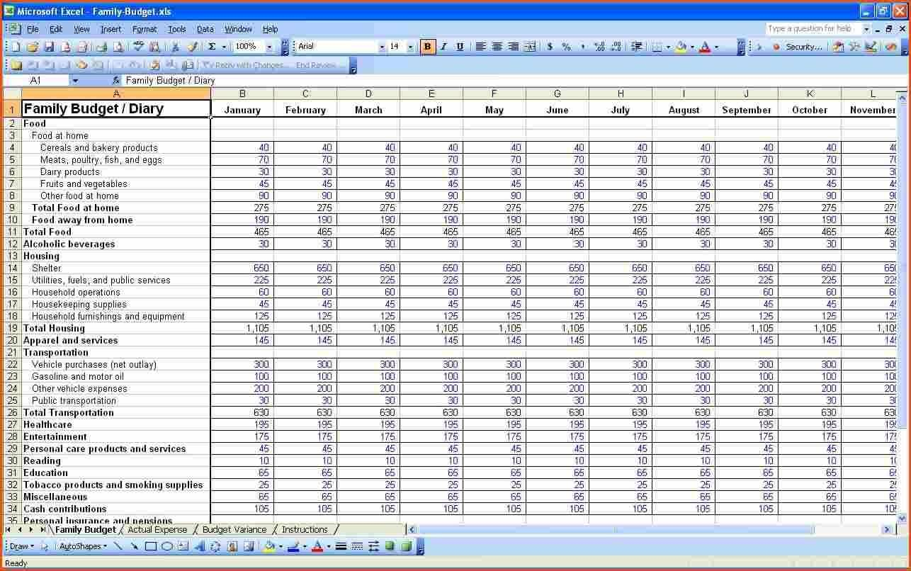 Self Employed Excel Spreadsheet Template