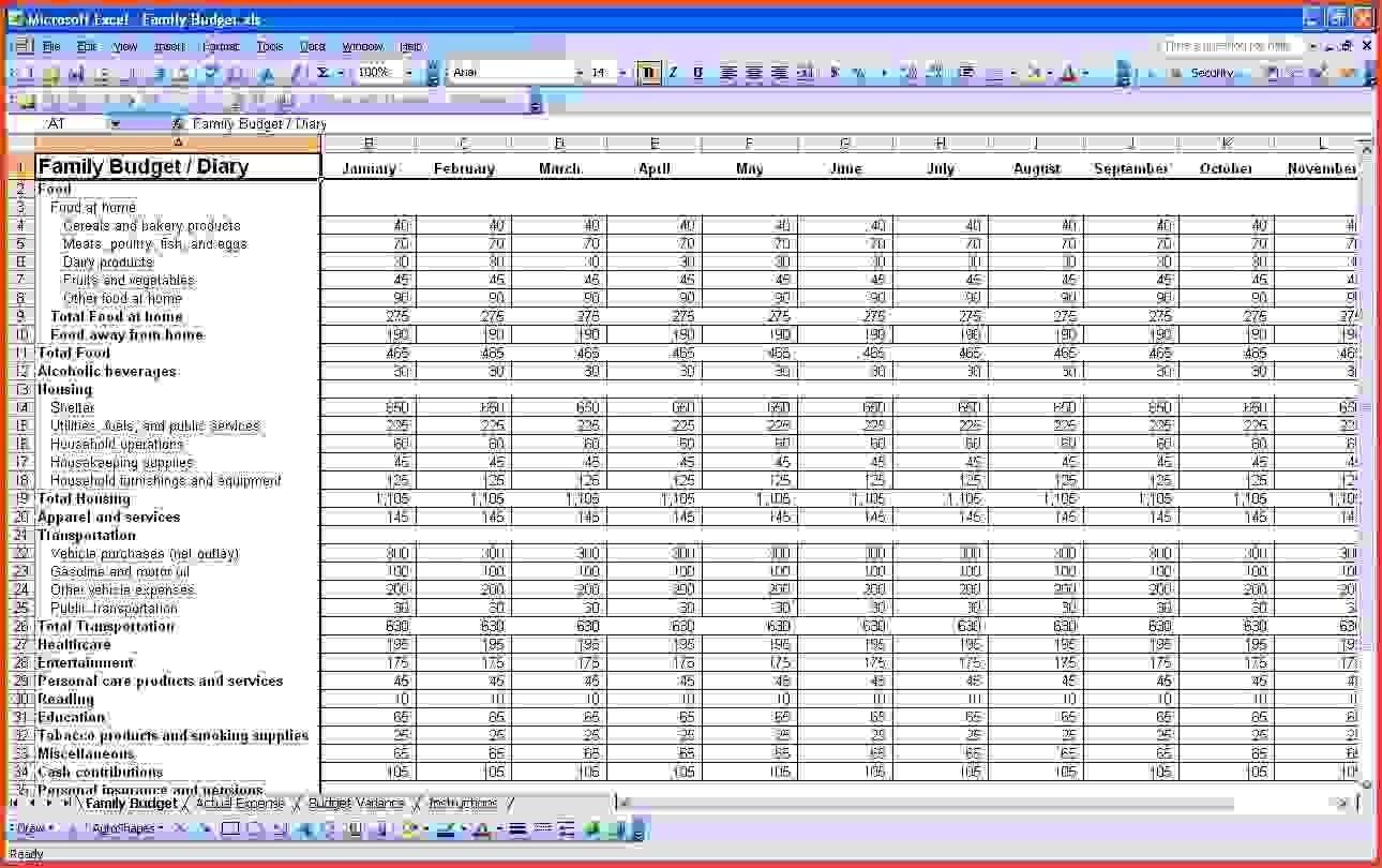Self Employed Spreadsheet Templates