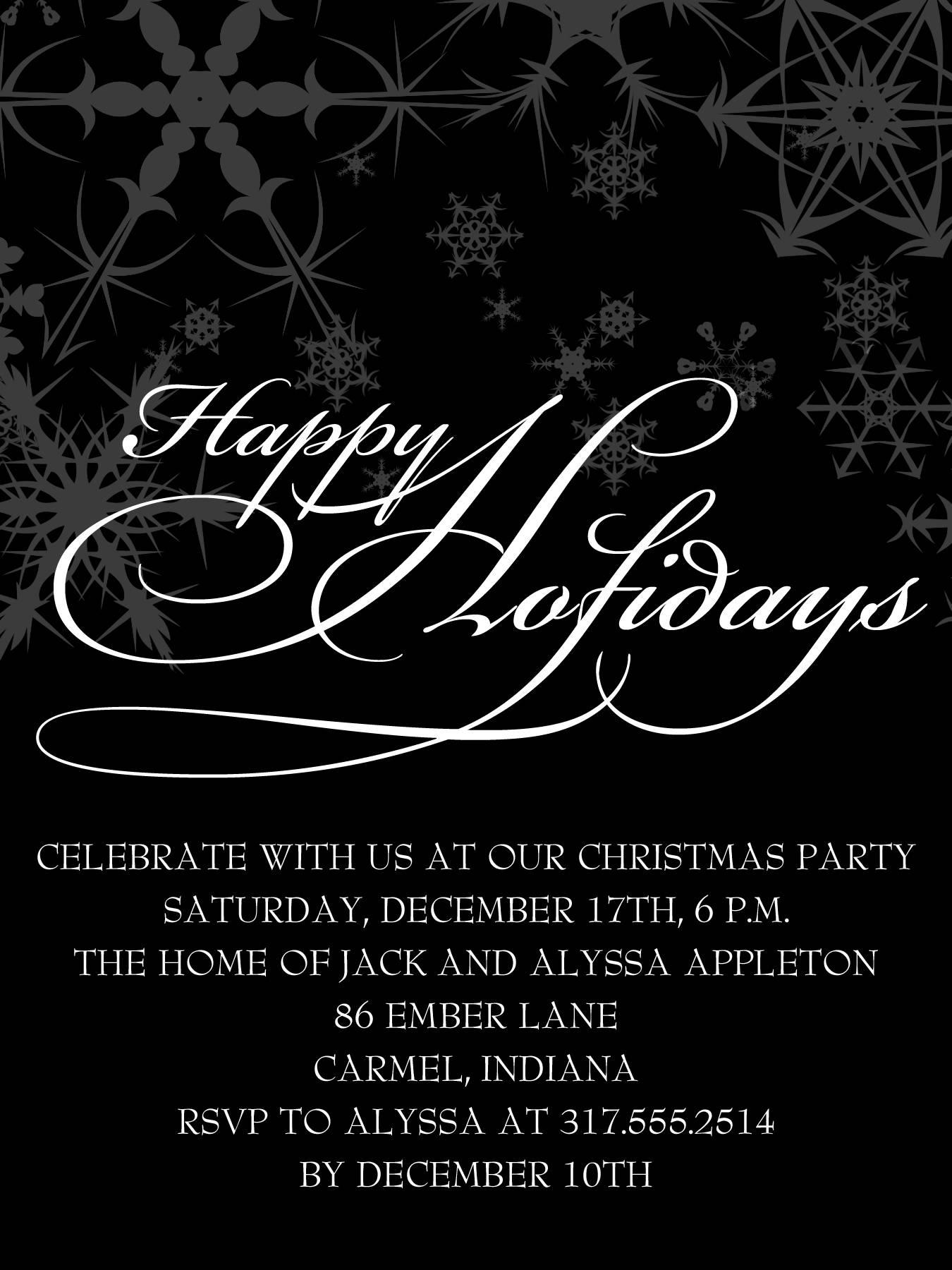 Semi Formal Party Invitation Template