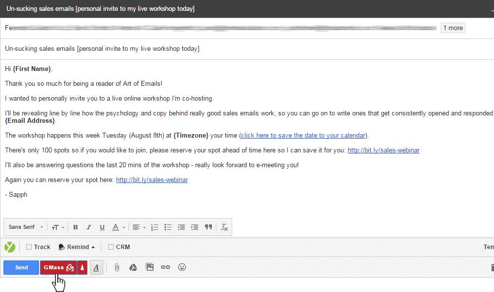 Send Bulk Templated Email