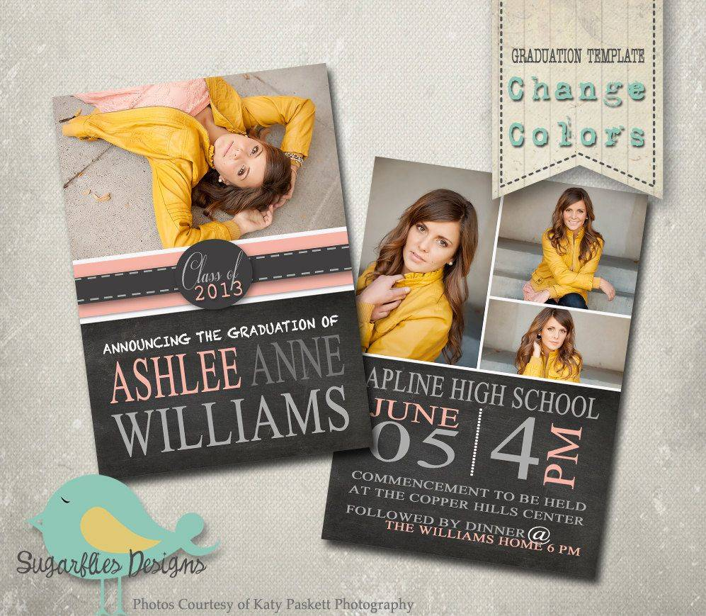 Senior Graduation Announcements Templates