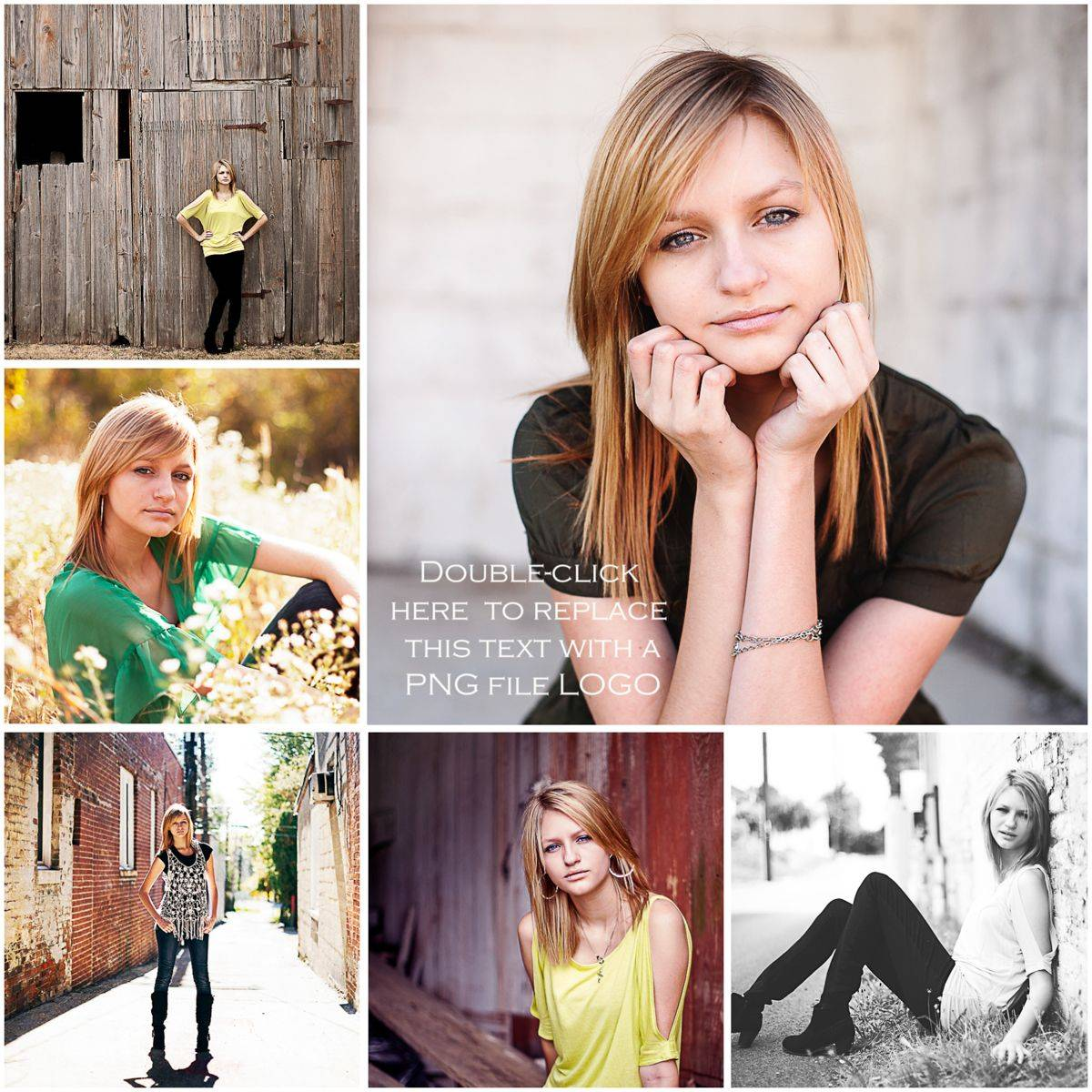 Senior Pictures Collage Templates