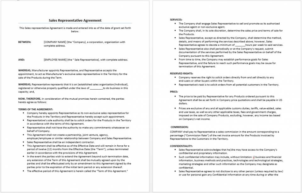 Separation Agreement Free Template Uk