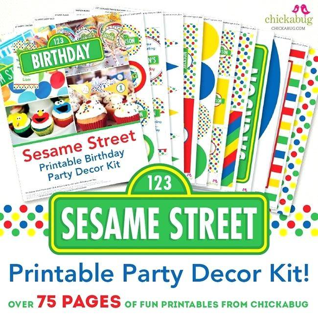 Sesame Street Birthday Party Invitation Templates