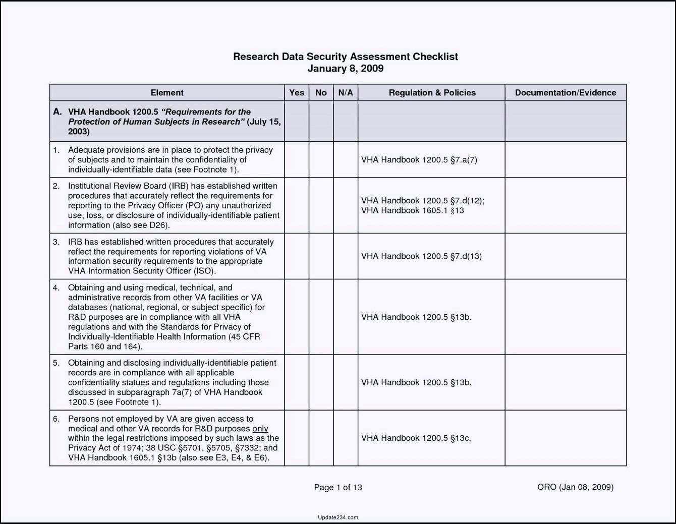 Sgx Compliance Checklist Template