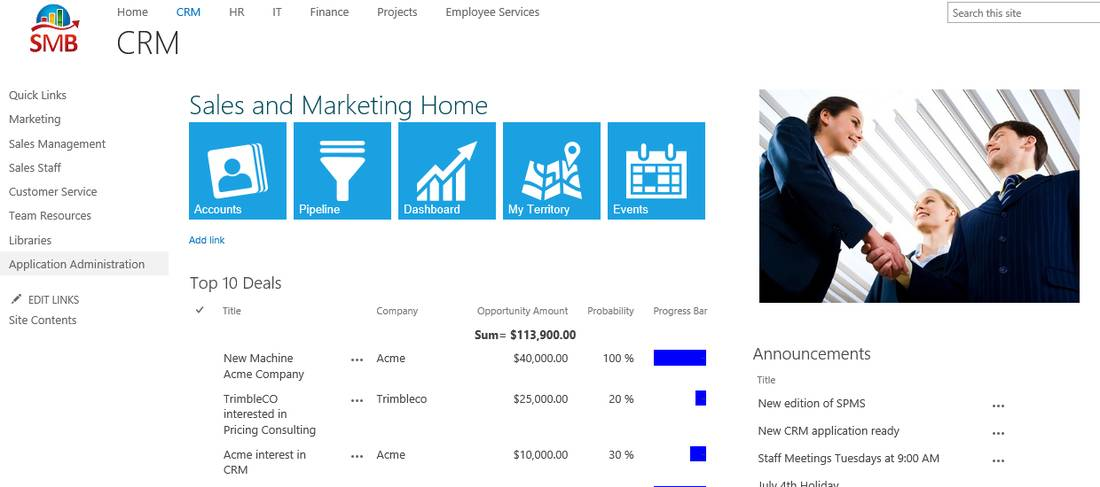 Sharepoint 2013 Crm Site Template
