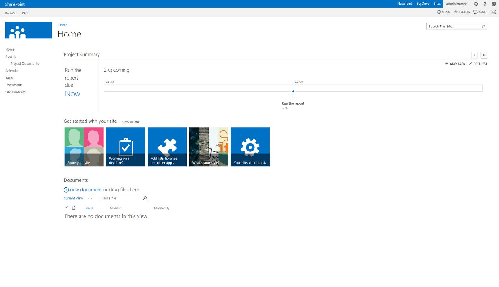 Sharepoint 2013 Project Site Template Id
