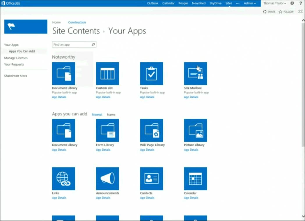 Sharepoint Foundation 2013 Project Management Template