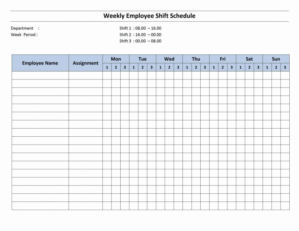 Shift Schedule Templates Calendar