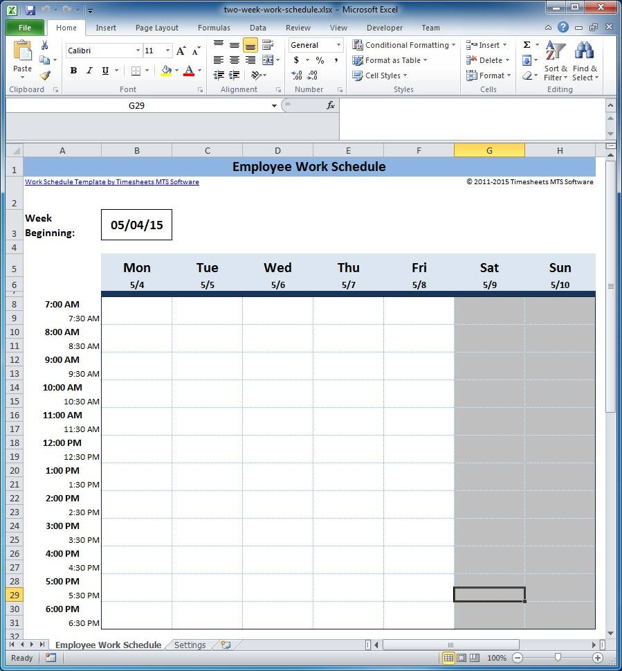 Shift Schedule Templates Free