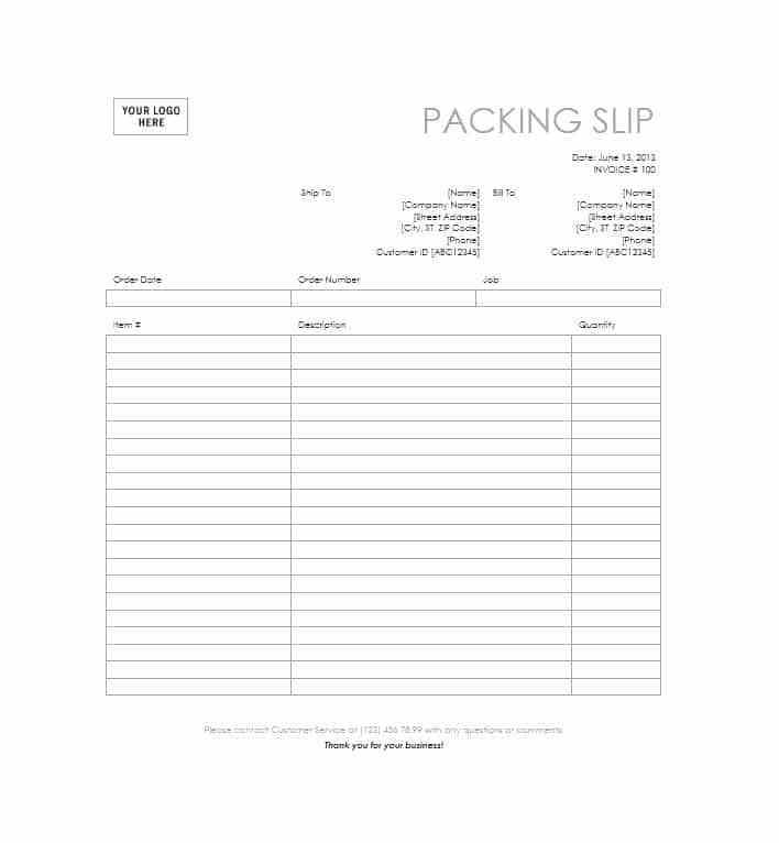 Shopify Packing Slip Template Free