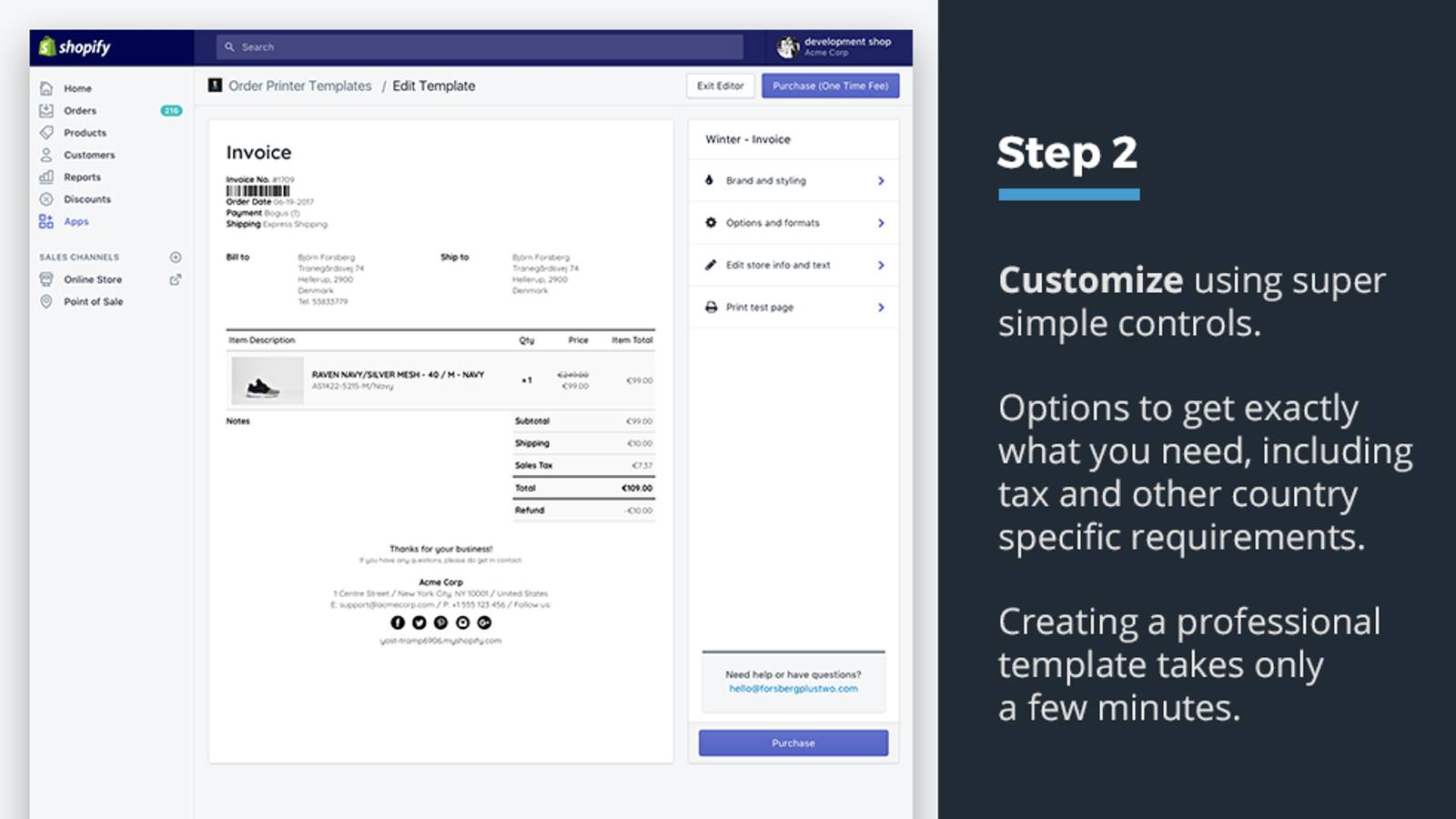 Shopify Receipt Template