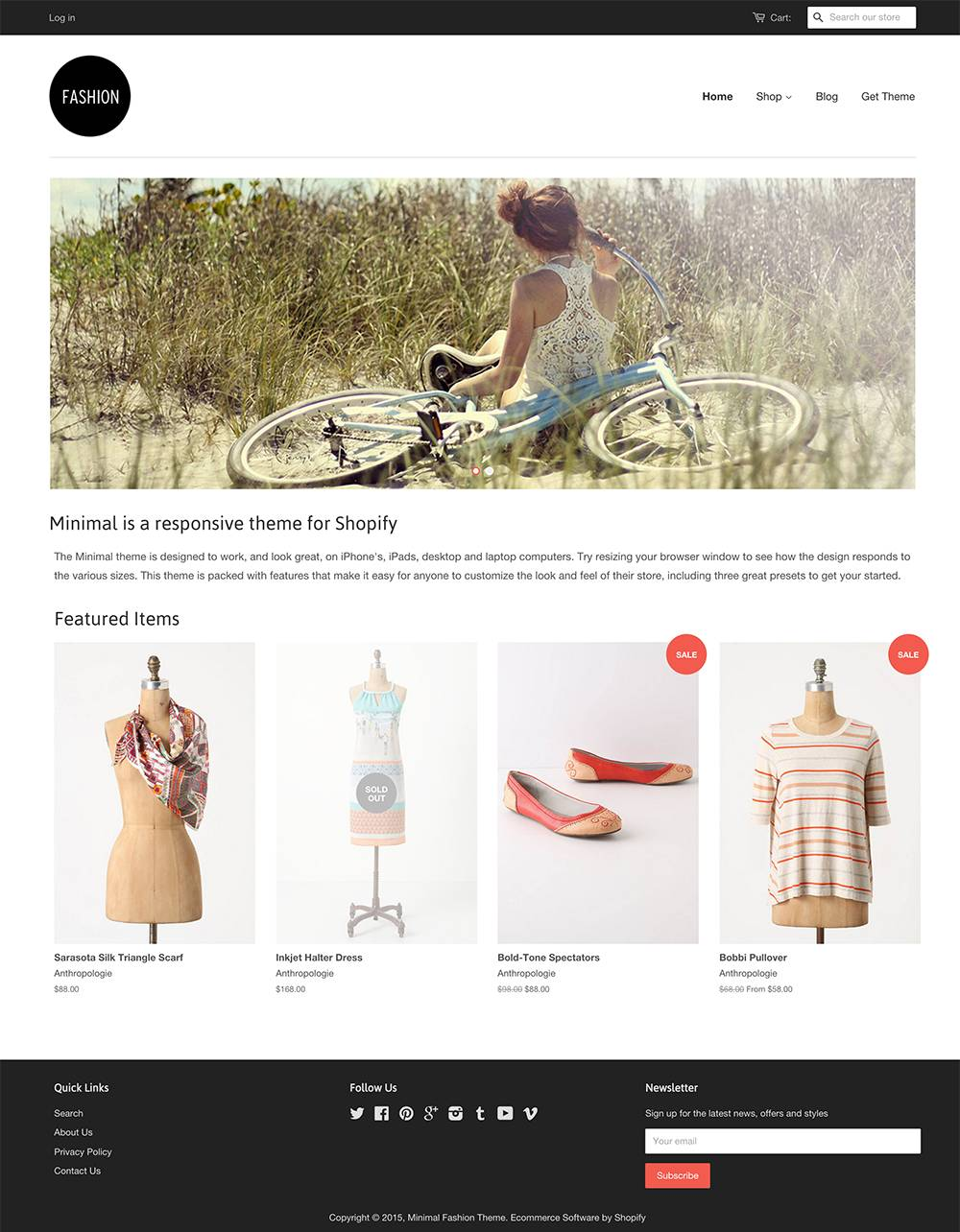 Shopify Website Template Free