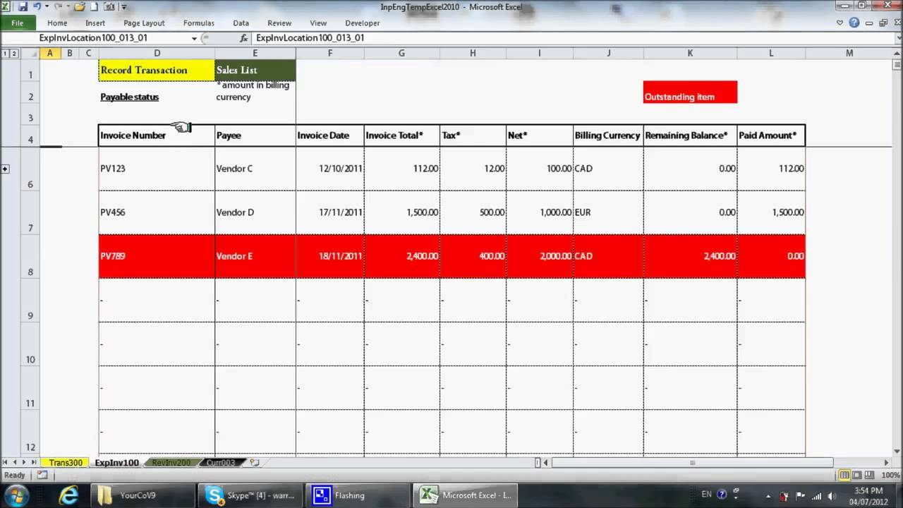 Simple Bookkeeping Template Free